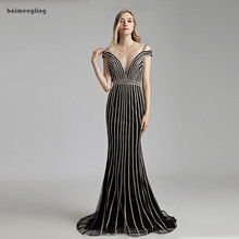 navy evening dress, formal mermaid beaded open back dress