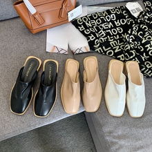 Women's Slippers Summer calzado mujer mules zapatos de mujer ladies outdoor solid colours silver shoes for women low-heels 2CM