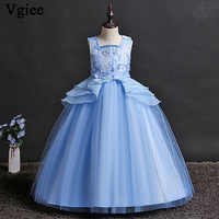 Vgiee Girls Christmas Princess Kids 2019 Ankle Length Party Weddings Girls Clothing Dress for Girls 10 To 12 Years Outfits CC097