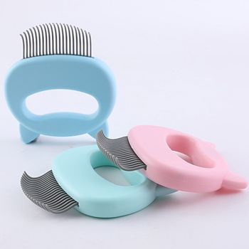 Pet Massage Brush Shell Shaped Handle Pet Grooming Massage Tool   1