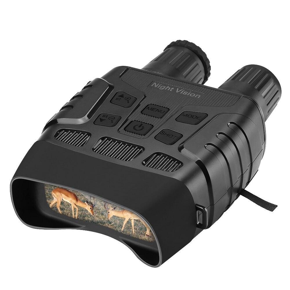 Dispositivo de visão noturna binóculos 300 jardas digital ir telescópio zoom óptica com 2.3 screen tela fotos gravação vídeo caça câmera