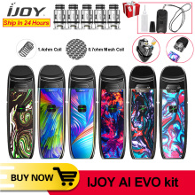 Original IJOY AI EVO Resin Pod vape pen Starter Kit 1100mAh Battery 0.7 &1.4ohm Coil Vape Pod Kit VS Shogun Drag 2 minifit kit