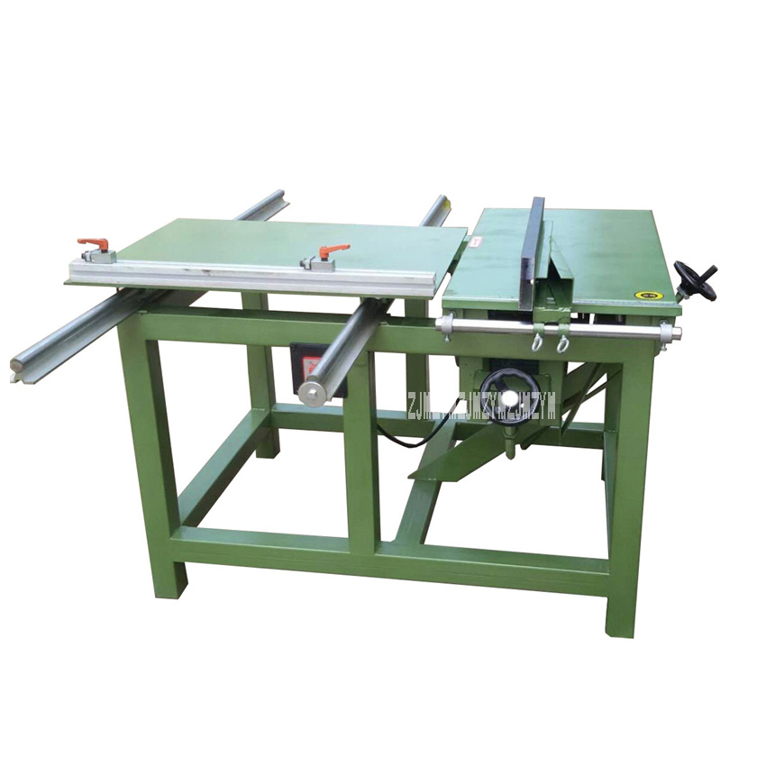 Acrylic Multifunctional Woodworking Table Saw Sliding Table Saw Woodworking Machinery Parts Panel Saw Machine 220V/380V 2.2KW