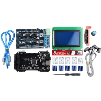 Clone Re-Arm 32 Bit Mother Board Ramps 1.5 And 12864 Lcd Display With Tmc2208 Driver For 3D Printer Parts