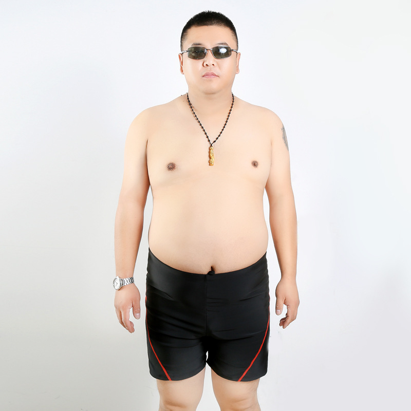 Large Size Swimming Trunks Plus-sized Men's Lard-bucket Short Fat Swimming Trunks Extra Large Swimming Athletic Pants Middle-age