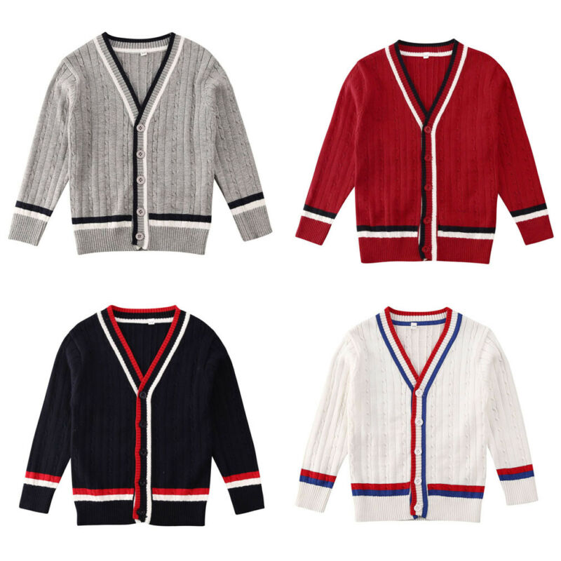 Toddler Kids Baby Girl Knitted Sweater Cardigan Coat Long Sleeve Top Outwear
