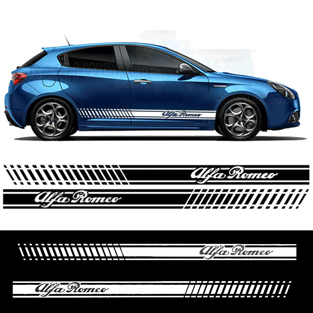 Стикеры для автомобиля alfa romeo, боковые полосы, графические наклейки, виниловые наклейки для автомобиля, Стайлинг автомобиля, tu-738