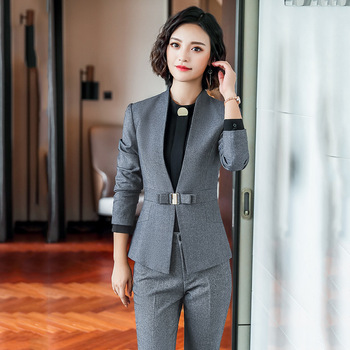 New Professional Suit Pants High Quality Work Clothes Office Suits Autumn and Winter Temperament Ladies Jacket Casual Trousers factory labor work clothing jacket and pants suit house work apparel free shipping