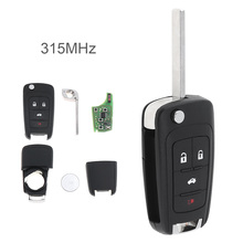 4 Buttons 315Mhz Keyless Entry Remote Key Fob OHT01060512 for Chevrolet  2010-2017