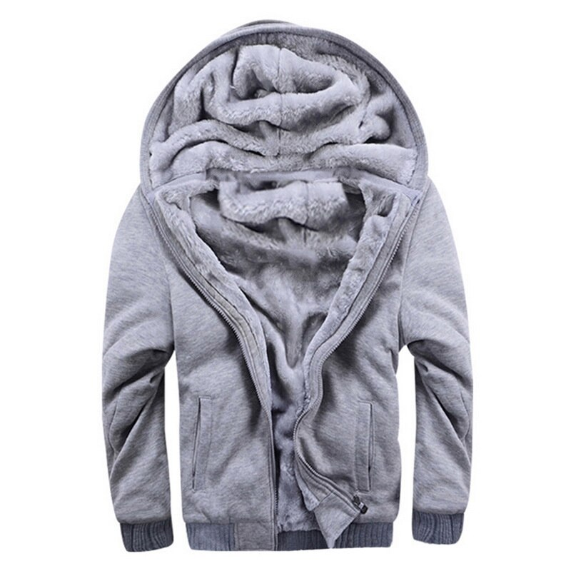 Warm Coat Jacket Winter Casual Hooded-Fleece Long-Sleeve Thickened Men's New Fashion title=