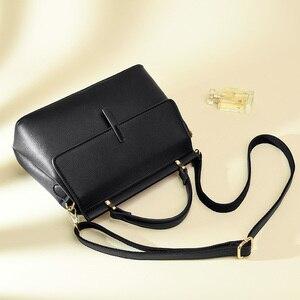 Image 3 - Brand new fashion messenger bag womens leather handbags female shoulder crossbody bags for women purple light blue red black