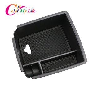 Image 3 - Color My Life Car Armrest Box Storage for Volkswagen VW Tiguan Mk2 2016   2020 Central Console Storage Box Interior Organizer