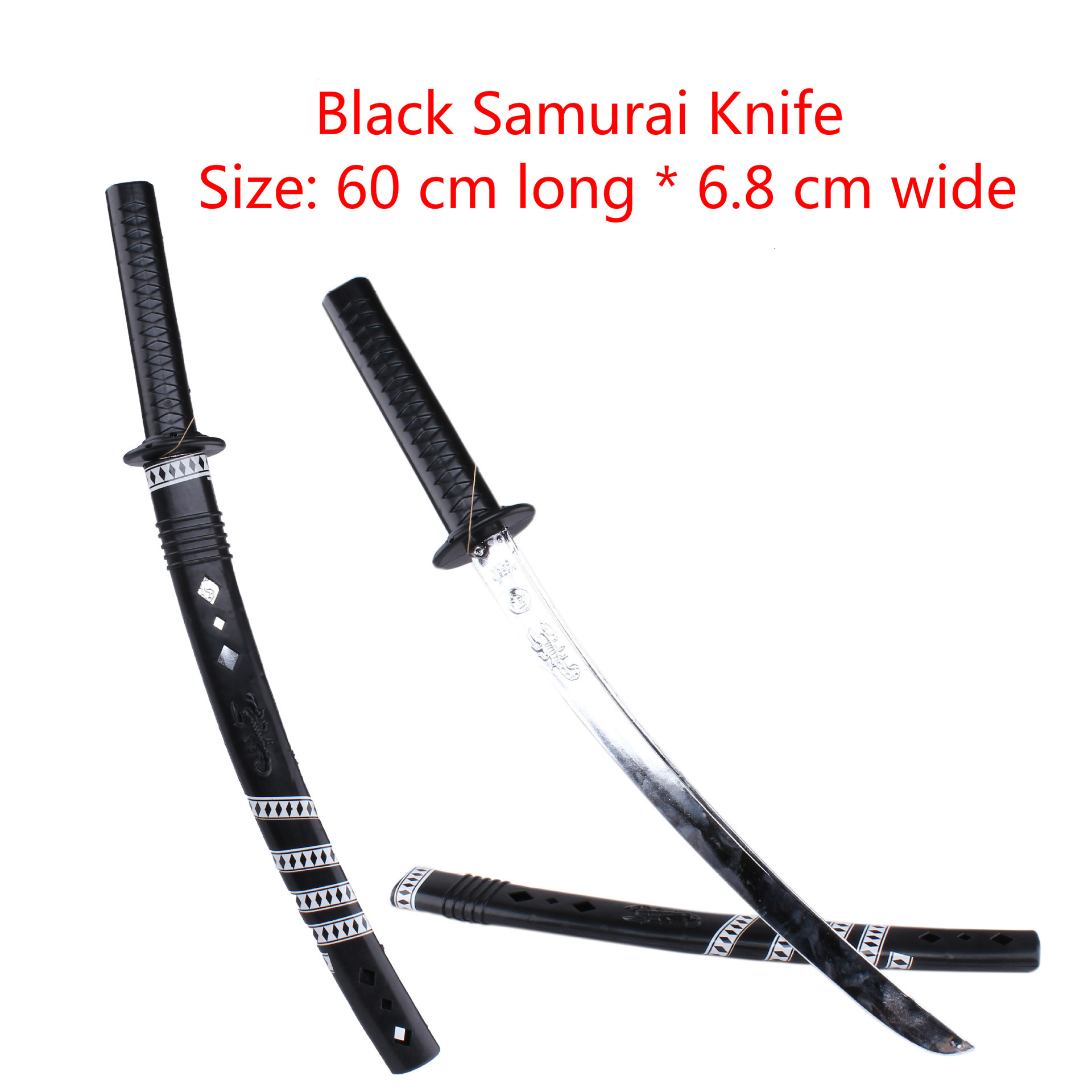 1pcs Japanese Samurai Toy Knife Child Sword Boy Dongyang Samurai Blade Toy Cosplay Stage Props Ninja Toy Knife Weapon