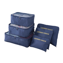 6PCS/Set Travel Case Clothes Tidy Storage Bag Box Luggage Suitcase Pouch Bra Cosmetics Underwear Waterproof Organizer Container