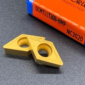 Image 4 - Lama Originale DCMT070204 DCMT11T304 DCMT11T308 HMP NC3020 di Alta Qualità Strumento Tornitura Interna Inserto In Metallo Duro Per Acciaio Inox