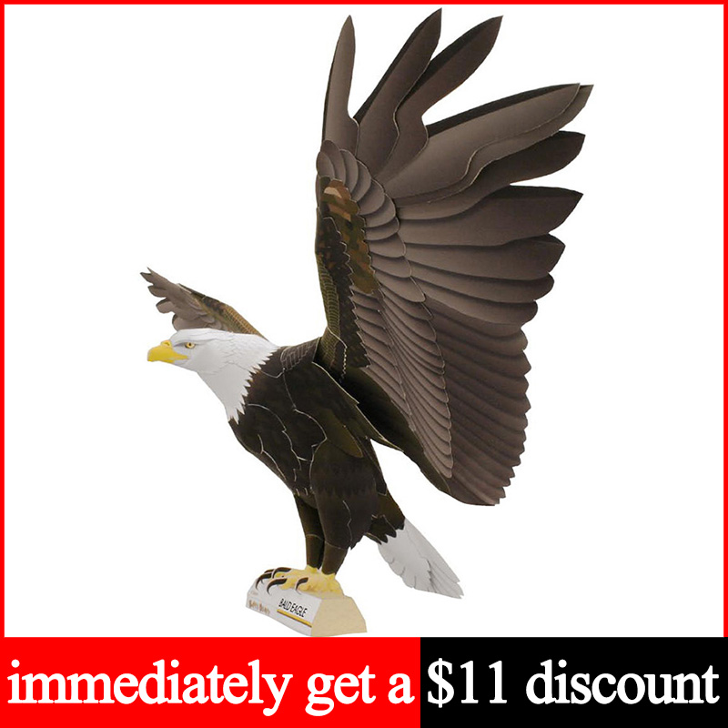 Buy Origami 3D Beautiful Eagle Craft for Home Decor Multicolored ... | 800x800