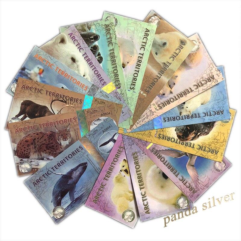 Arctic teritions, набор из 14 шт., 1-500 Polar, Animal Polymer Banknote ( 2010-2017), кодификация UNC, Note