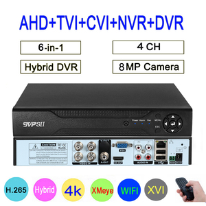 Image 1 - 8MP 4K מעקב מצלמה XMeye אודיו פנים לזהות Hi3521D 4CH 4 ערוץ היברידי WIFI 6 ב 1 H.265 + השישה עשר TVI CVI NVR AHD CCTV DVR