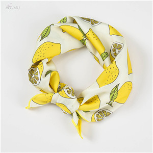 AOMU-Square-Scarf-Hair-Tie-Band-For-Business-Party-Women-Cute-Lemon-Pattern-Head-Head-Neck