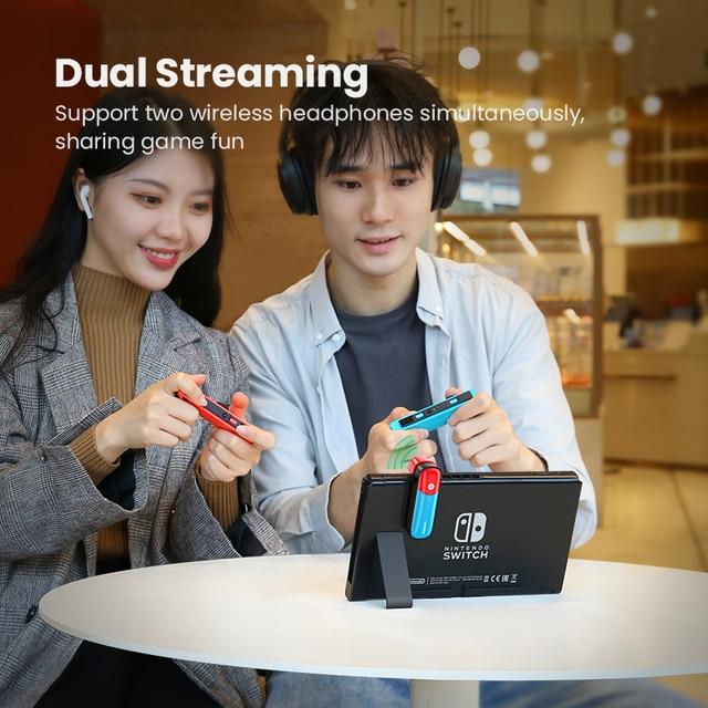 UGREEN Switch Bluetooth 5.0 Audio 3.5mm Transmitter Adapter for Nintendo Switch APTX LL Wireless Transmitter