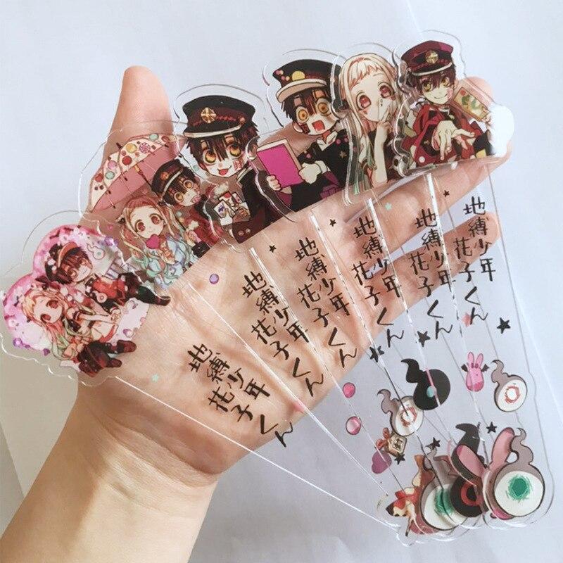 Toilet Bound Hanako Kun Cosplay Prop Double Sided Acrylic Bookmark Student Stationery