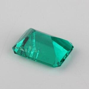 Image 3 - Высококачественная лабораторная восьмиугольная огранка изумруда 7x5mm 15x11mm, гидротермальный Изумрудный камень для ювелирных изделий