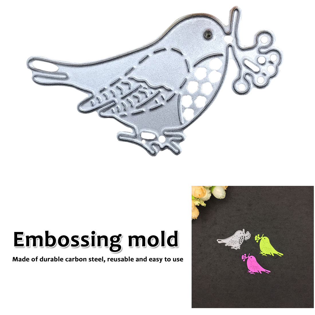 1 pcs Photo Album Decor Embossing Cards Making DIY Crafts  Birds Metal Cutting Dies Stencil DIY Scrapbooking