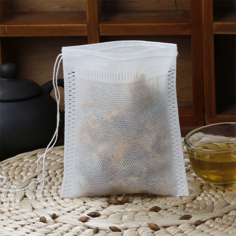 Green Tea 100 Pcs Tea Bags 5x7cm CM Bags For Tea Bag Infuser With String Heal Seal Sachet Filter Paper Teabags Empty Tea Bags