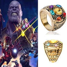 Movie Accessories Avengers Infinity War Thanos Infinity Gauntlet Power Cosplay Alloy Ring Jewelry