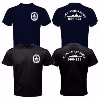 Nueva moda creativa impresa camiseta para hombre nuevo el último barco Uss Nathan Ddg-151 Us Navy Seal Tv Series hombres camiseta ropa