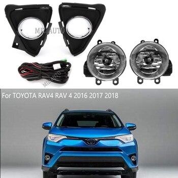 Fog Light Kit for Toyota RAV4 2016 2017 2018 Bezel + Relay Wire Harness Switch fog lamp lights