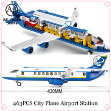 463PCS Constructor Compatible City Plane Airport Station Set Building Bricks Blocks Airplane Bricks Toys for Children(China)