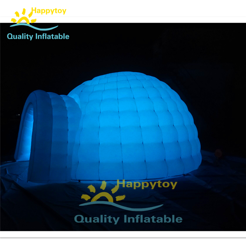 Inflatable Tent For Party Or Wedding Free Customize Led Giant Inflatable Igloo Dome Tent With Tunnel