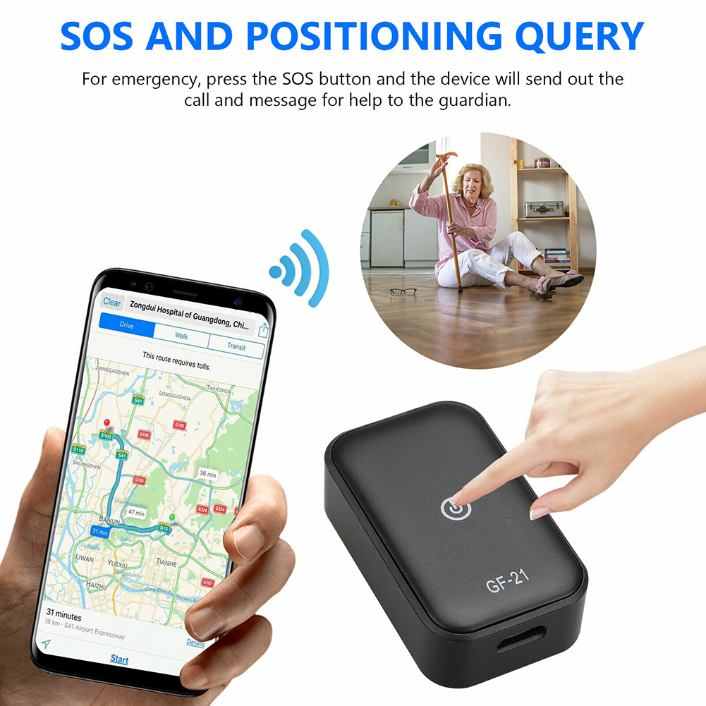 GF21 Mini Car GPS Tracker WIFI+LBS+GPS Real-Time Tracking Anti-Lost SOS Device App Control GF-21