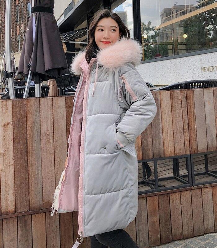 2019 High Quality Winter Jacket Women Velvet Fabric Hooded Thicken Fur_B3_14