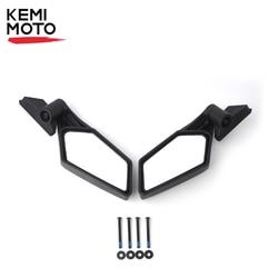 Sinistra e Destra UTV Specchi di Vista Laterale Specchietto retrovisore Regolabile per Can Am Maverick X3 per Suzuki Re Quad 2017 2018 2019