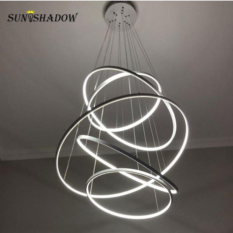 60 80 100 80 60cm moderno led luz de teto para sala estar sala de jantar cozinha lustre led pendurado lâmpada do teto luminárias