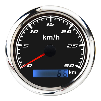 Marine Car Digital GPS Speedometer Gauge 0-30 Km/h Pulse Signal