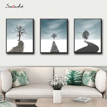 Trees In The Snow Canvas Wall Pictures For Living Room On Home Decor cuadros