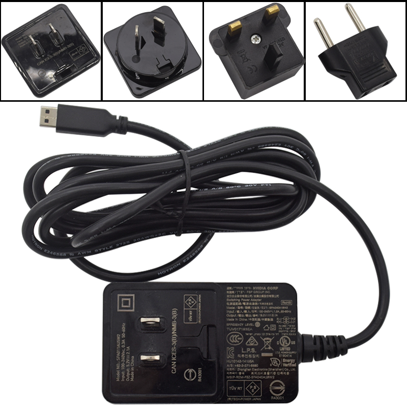 For Nvidia Shield TV Pro Media Server AC Adapter Power Supply SPA040A19W2 19.0V 2.1A USB - Used