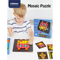 Mideer Puzzle Children Toys Geometric Shape Mosaic Puzzle ABS Old Interactive Toys Creative Educational Toys Kids Gifts >3 Years