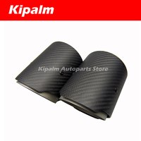 2 Pieces Carbon Fiber Exhaut tips for BMW F87 M2 F80 M3 F82 F83 M4 Direct Fit Universal Fit Exhaust Tail Pipe Tip AK LOGO
