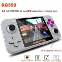 Handheld Game Console with 3.5Inch IPS Sn , Retro Game Console Portable Video Game Console (Gray + White)