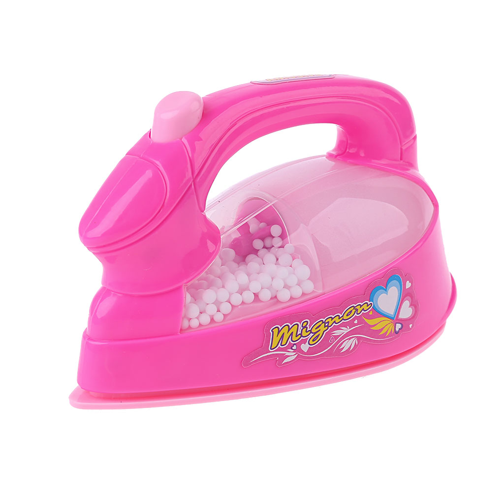 Children Kid Boy Girl Mini Kitchen Electrical Appliance Electric Iron Toy Set Dummy Household Pretended Play Gift