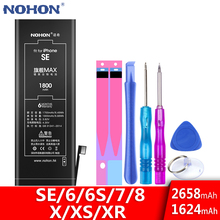 NOHON Battery For iPhone SE 8 7 6 6S X XS XR 6G Replacement Bateria High Capacity iPhone8 iPhone7 iPhone6 iPhoneSE Phone Batarya cheap 2801mAh-3500mAh Compatible ROHS WEEE MSDS BSMI nemko Apple iPhones For iPhone 6 6S SE 7 8 X XS XR iPhone8 iPhone7 iPhone6 Battery