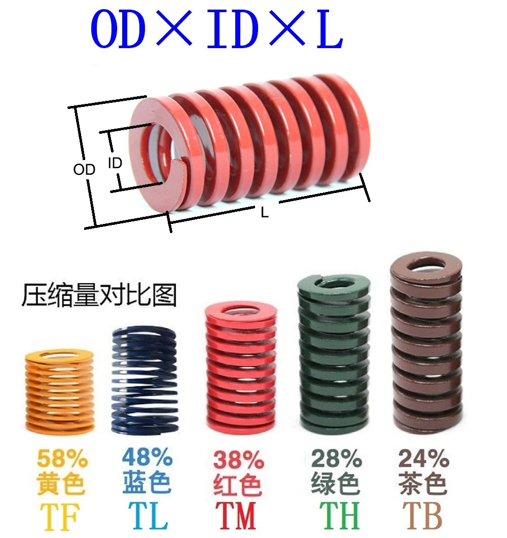 OD 18mm ID 9mm Extra Heavy Load Brown Mould Die Spring Select Variations