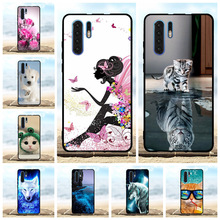 For Huawei P30 Pro Cover Soft TPU VOG-L29 VOG-L09 VOG-L04 Case Girl Patterned Shell Capa