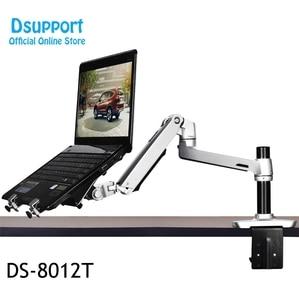Image 5 - Aluminium Desktop Mount Ultra Lange Arm Dual Gebruik Laptop Bureau/Tablet Monitor Houder Arm Full Motion notebook Beugel