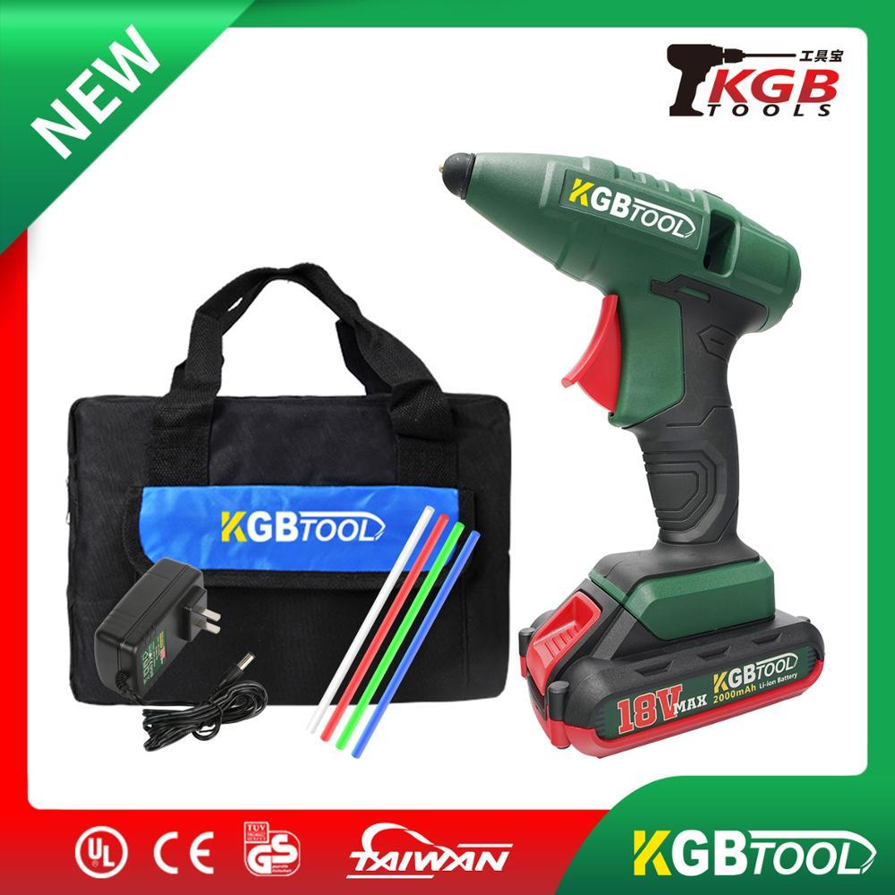 KGB TOOL Hot Melt Glue Gun Set Mini Electric Professional DIY High Temp Heat Melt Repair Tool With Hot Melt Glue Sticks For Diy