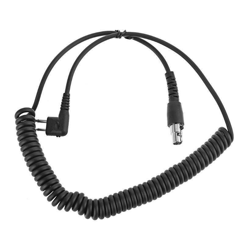Spring Cable Airlines Headphone Cord For Motorola Black Box Speedcom HYT Radio